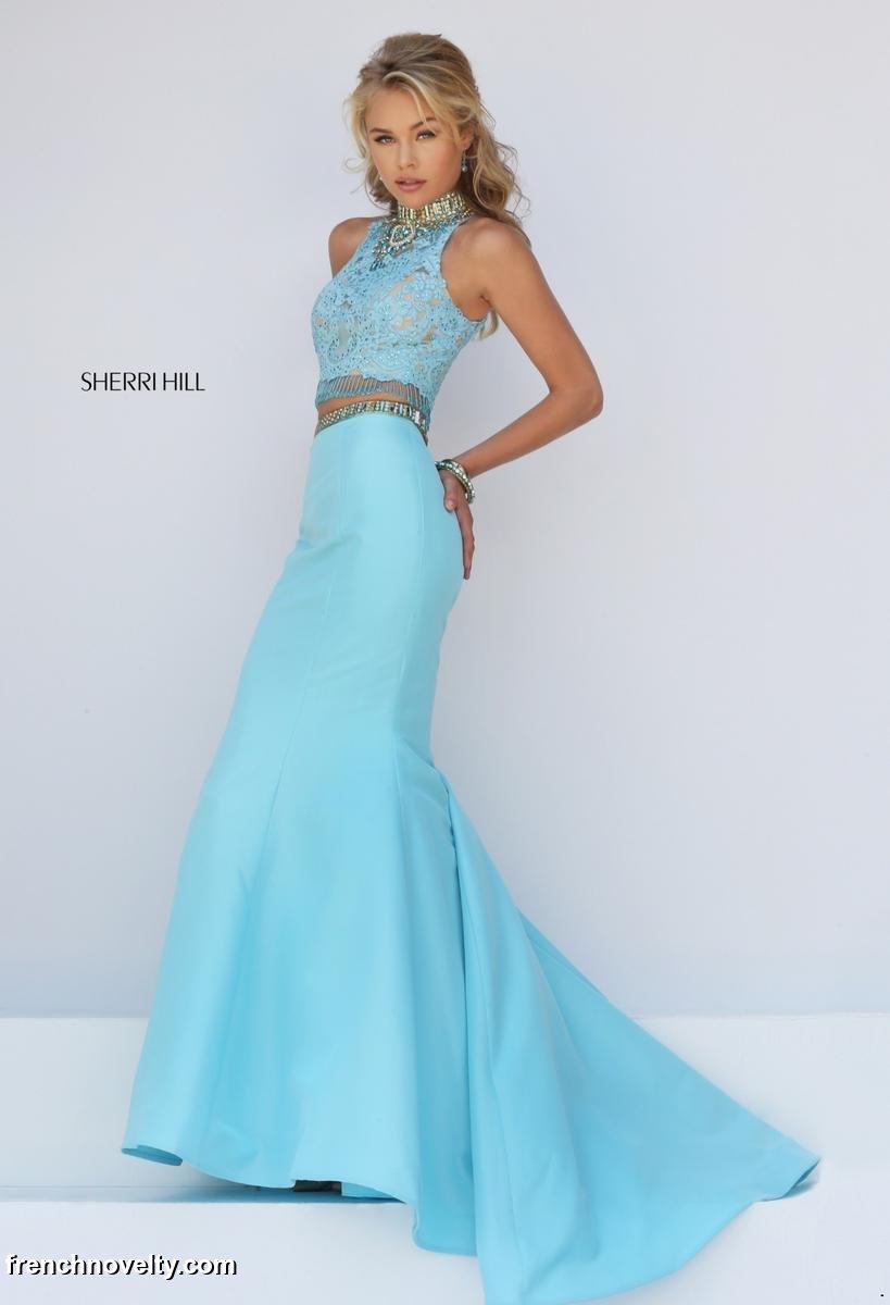 Sherri Hill 32348 Two Piece Mermaid Prom Dress: French Novelty