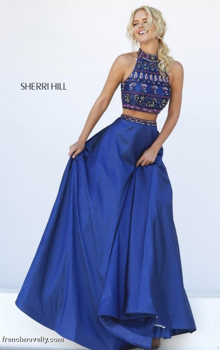 Sherri Hill 32366 Two Piece Formal Dress: French Novelty