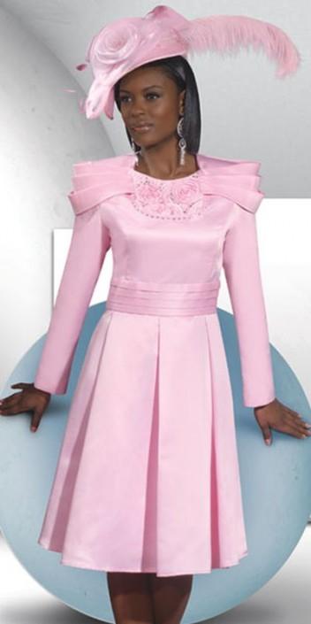 Lisa Rene 3244 Satin Church Dress: French Novelty