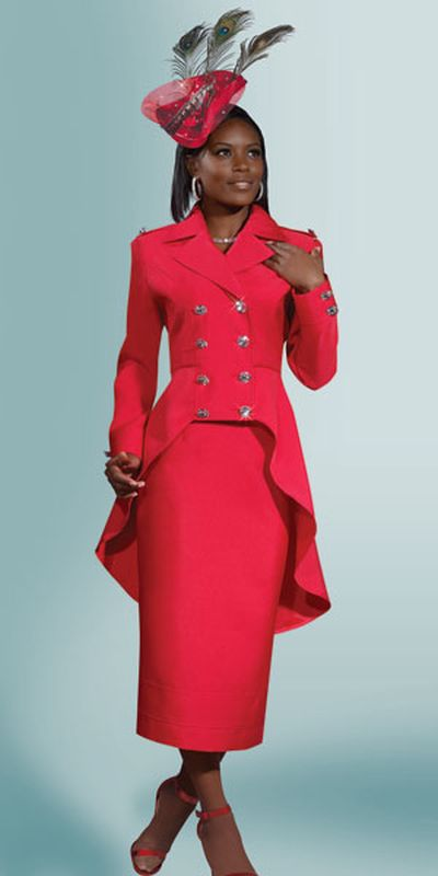 Lisa Rene 3248 Womens High Low Church Suit French Novelty