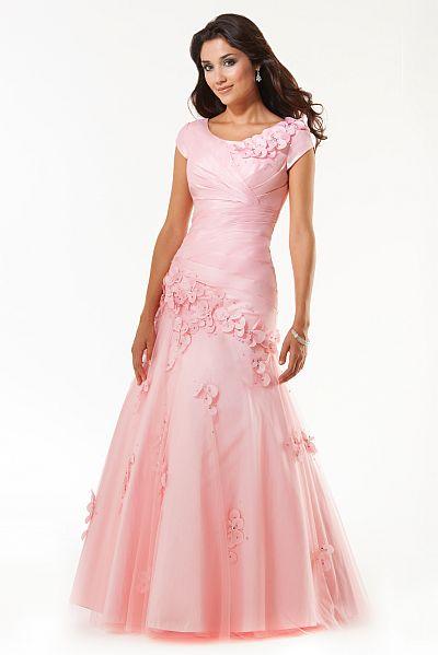 Mystique Flower Applique Prom Dress 3251 by Bonny Bridal: French ...