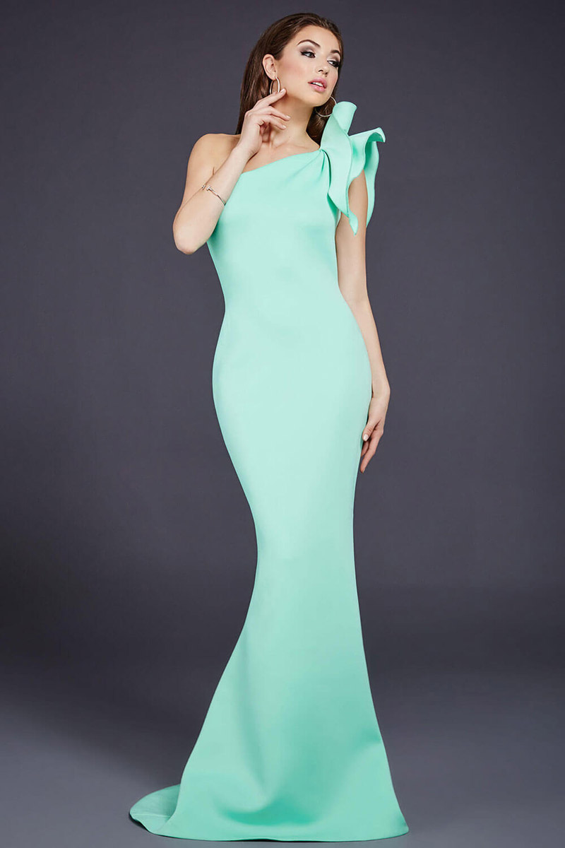 Jovani 32602 One Shoulder Fitted Prom Dress: French Novelty