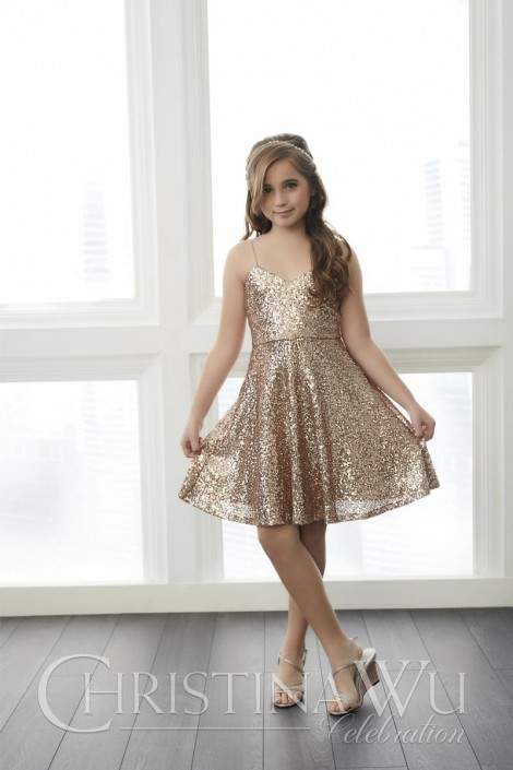 b8ceb1ad Christina Wu Celebration 32761 Short Sequin Mini Maids Dress: French Novelty
