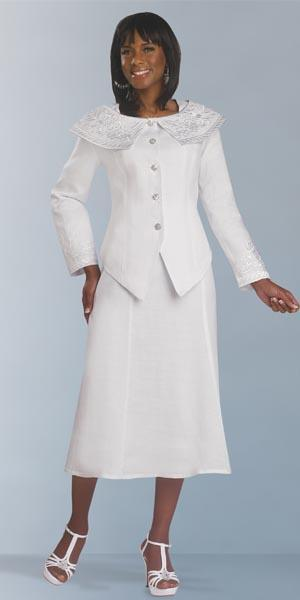 Lisa Rene 3278w Womens White Church Suit French Novelty