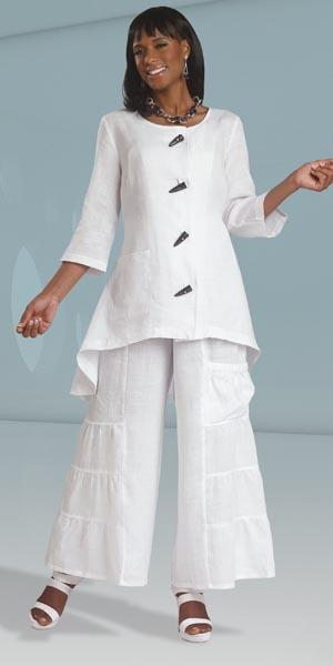 Lisa Rene By Donna Vinci 3287w Womens Pant Suit French