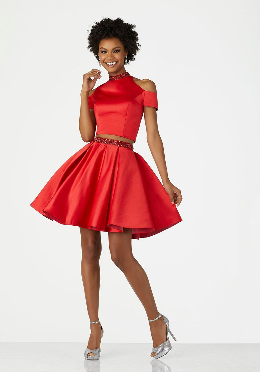 Morilee 33016 Short 2 Piece Homecoming Dress French Novelty