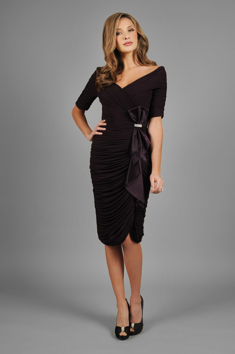 Daymor Couture 331 Off The Shoulder Cocktail Dress French