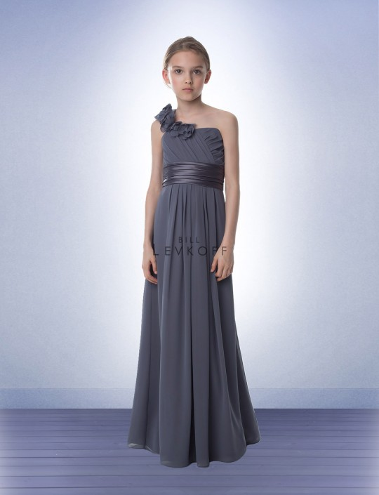 6778c6bb328 Bill Levkoff 33402 Jr Bridesmaid Dress with Flowers  French Novelty