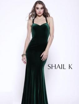 27724b49612 Shail K 33929 Strappy Back Velvet Gown
