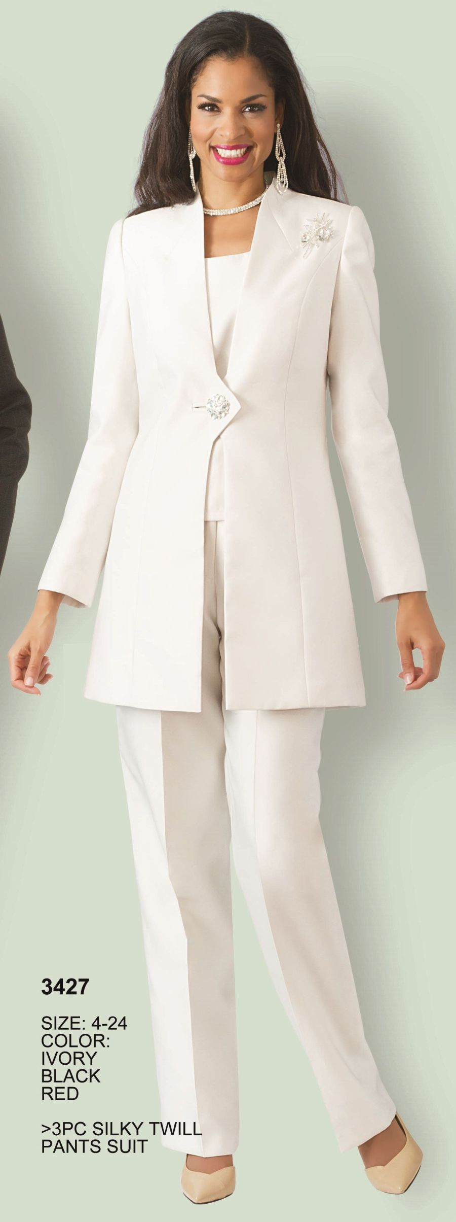 Lily and Taylor 3427 Womens 3pc Church Pant Suit