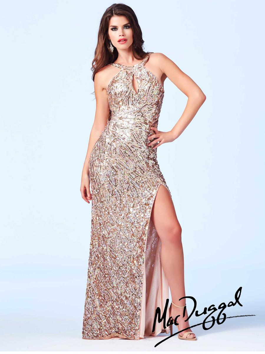 Cassandra Stone 3434A by Mac Duggal Cowl Back Sequin Gown: French ...