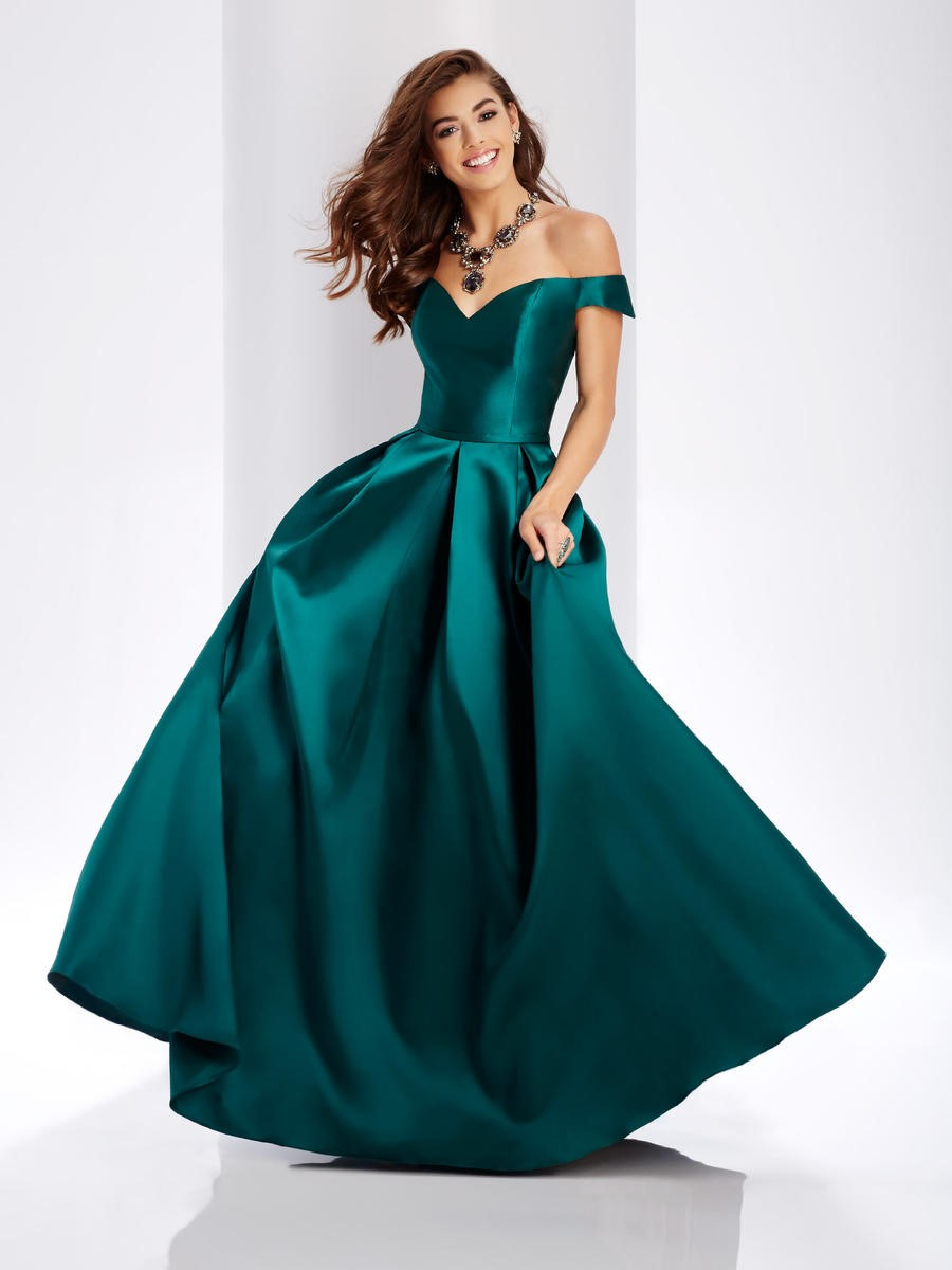 Clarisse 3442 Mikado Off The Shoulder Prom Dress French