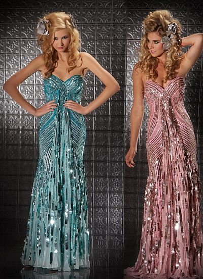 Mac Duggal Prom 70s Retro Look Sequin Prom Dress 3454m French Novelty