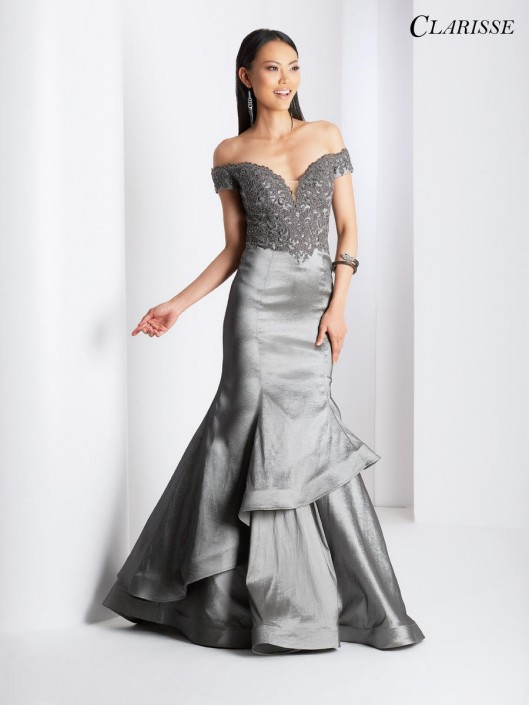 e8cd44e7073 Clarisse 3476 Off Shoulder Mermaid Prom Dress  French Novelty