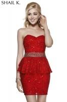 Shail K 3489 Peplum Cocktail Dress image