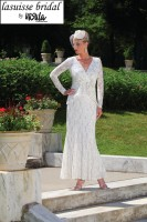 Lasuisse Bridal by Ursula 35001 Lace Informal Wedding Dress image