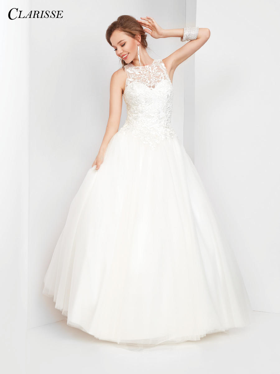 Clarisse 3509 Off White Ball Gown French Novelty