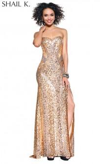 Gold Formal Cocktail Dresses