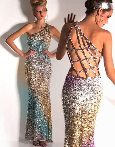 Cassandra Stone by MacDuggal Sequin Prom Dress 3530A: French Novelty