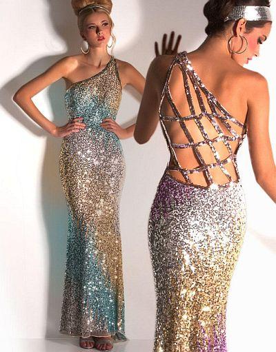 Cassandra Stone By Macduggal Sequin Prom Dress 3530a