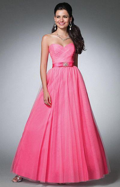 Alfred Angelo Strapless Net Satin Prom Dress with Full Skirt 3531 ...
