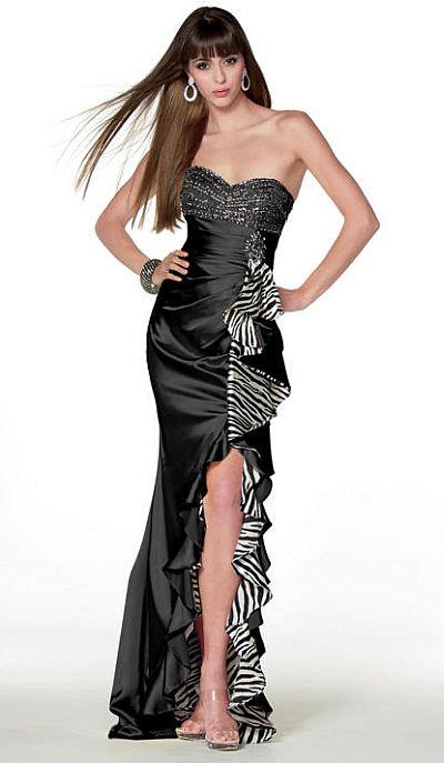 Alyce Paris Bdazzle Zebra Print Prom Dress 35438 By Alyce Designs