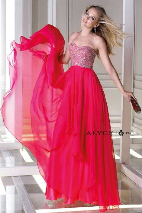 Alyce Bdazzle 35696 Stunning Formal Gown French Novelty