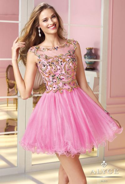 Alyce Sweet Sixteen 3579 Short Party Dress: French Novelty