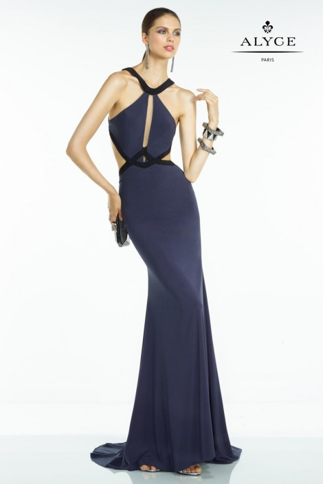 Alyce BDazzle 35819 Sleek and Chic Prom Gown: French Novelty