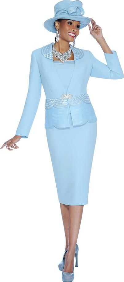 Susanna 3598 Womens 3pc Church Suit French Novelty