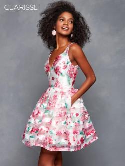 33a70e15e10 Clarisse 3608 Floral Short Party Dress