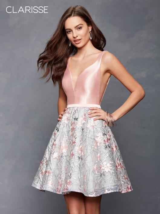 de92742406f Clarisse 3614 V Neck Short Homecoming Dress  French Novelty
