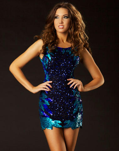 Twelve by Mac Duggal Short Sleeveless Sequin Dress 3625T: French ...