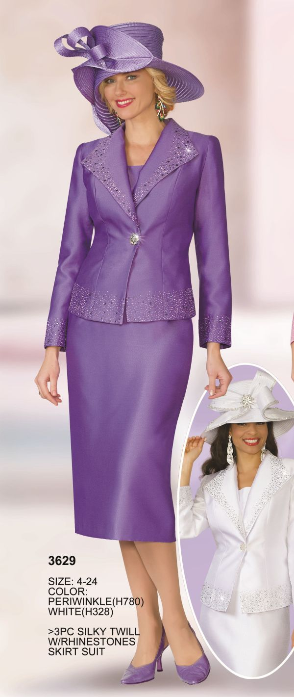 Lily And Taylor 3629 Womens 3pc Church Suit French Novelty