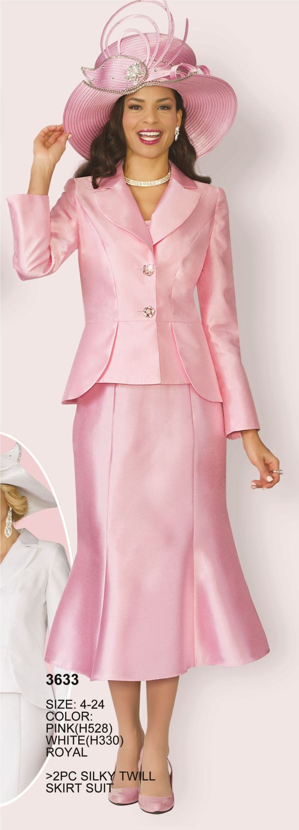 Lily and Taylor 3633 Womens Silky Twill Church Suit ...