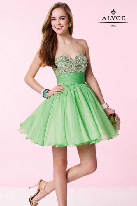 Alyce Prom Sequin Short Dress