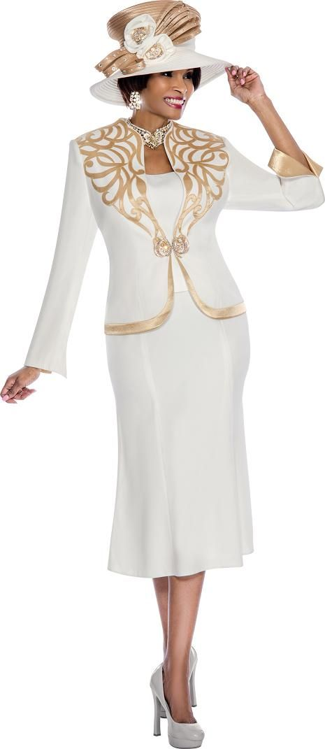 Susanna 3650 Womens Embellished Church Suit French Novelty