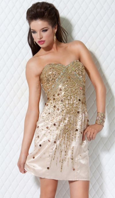 Jovani Short Sequin Homecoming Dress 368: French Novelty