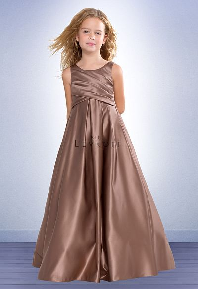 Bill Levkoff Euro Satin Flower Girls Dress 37001: French Novelty