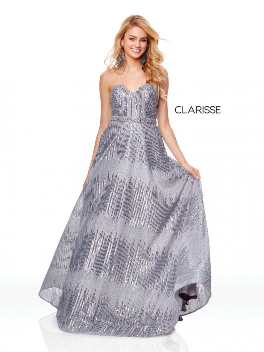 4d60291d74 Clarisse 3714 Sequin Prom Gown  French Novelty