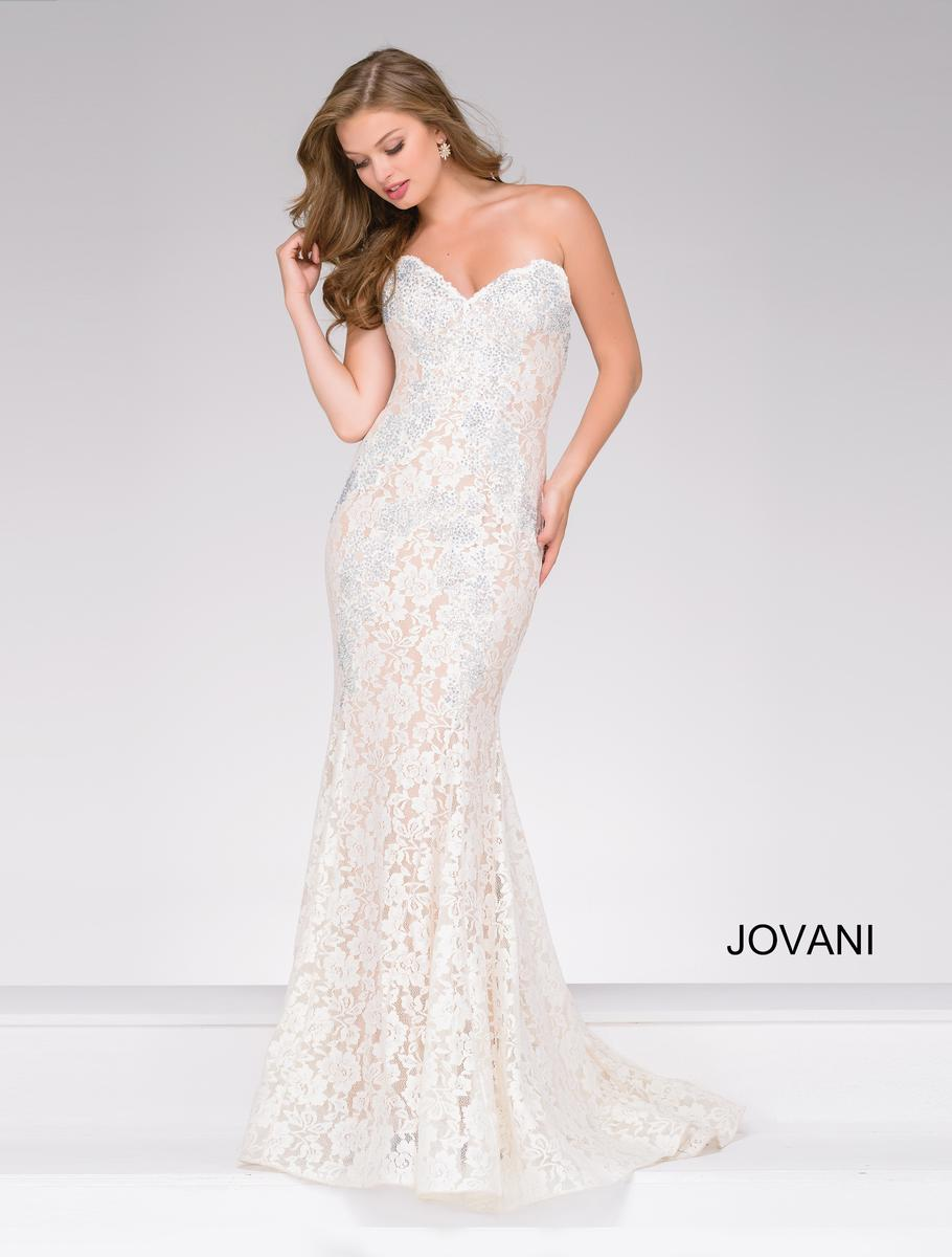 Jovani 37334 Lace Fitted Prom Dress: French Novelty