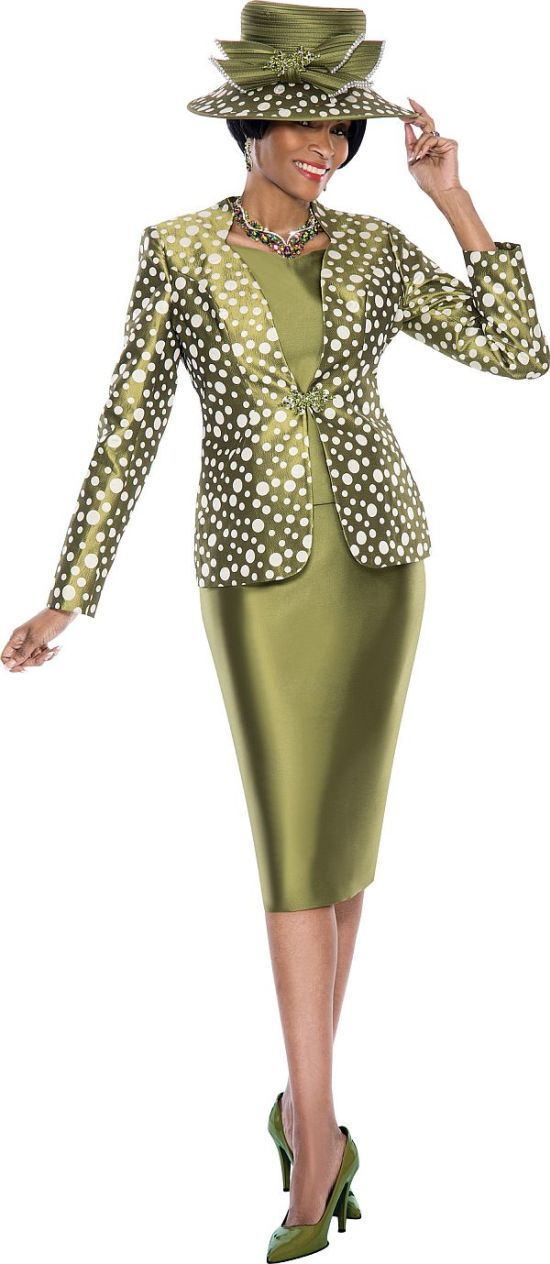 Susanna 3737 Womens Polka Dot Church Suit French Novelty