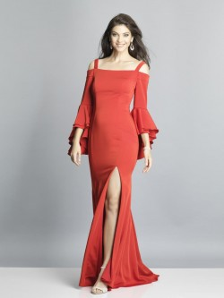 186c1f605221 Dave and Johnny 3764 Bell Sleeve Prom Gown