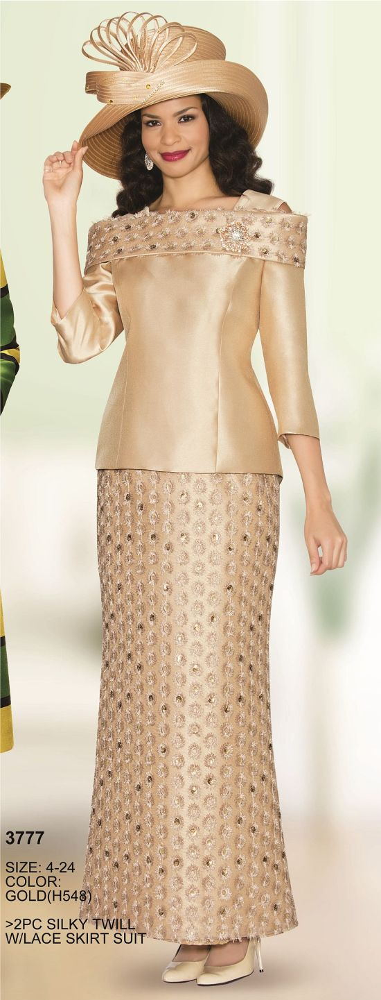 Lily And Taylor 3777 Long Dress With Lace Skirt French
