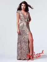 Mac Duggal 3785M V Front and Back Gown image