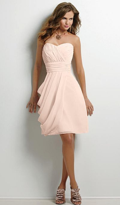 Jordan Strapless Chiffon Bridesmaid Dress 379: French Novelty