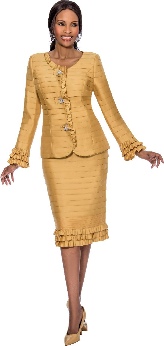 Susanna 3800 Ladies Ruffle Church Suit French Novelty