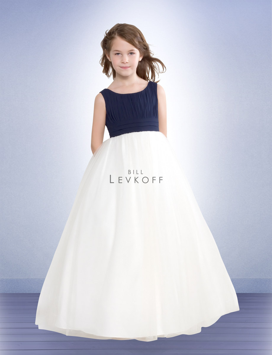 Bill levkoff two tone chiffon flower girls dress 38001 french novelty ombrellifo Images