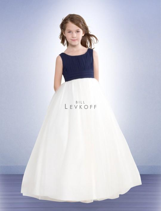 3c60bf2a506d Bill Levkoff Two Tone Chiffon Flower Girls Dress 38001: French Novelty
