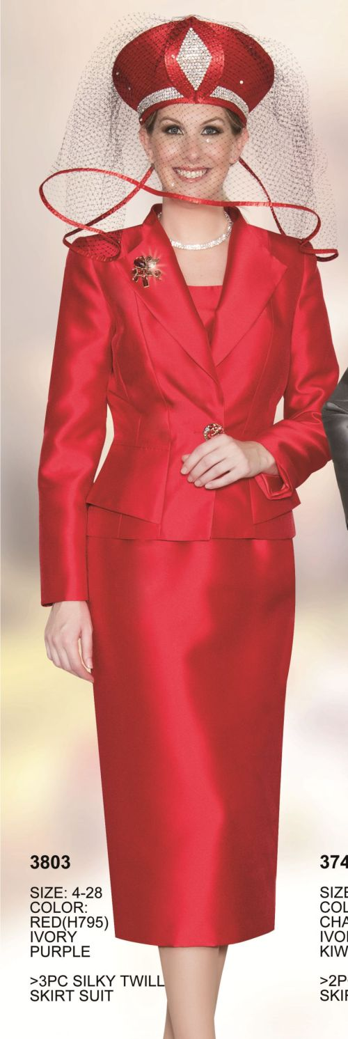 Lily And Taylor 3803 Womens 3pc Church Suit French Novelty